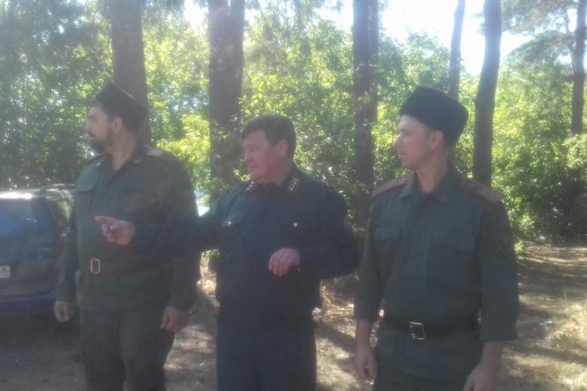 Липецкие казаки на охране лесов