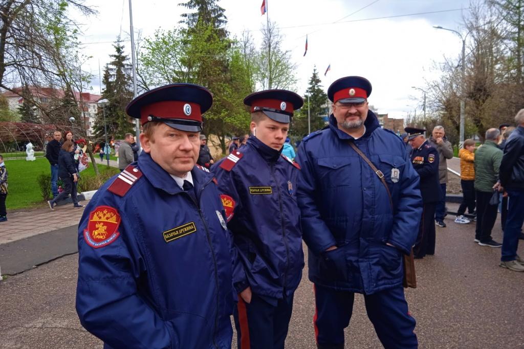 Казаки приняли участие в охране порядка