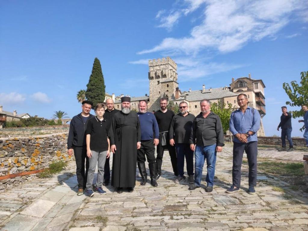 Паломничество атаманов и казаков Центрального казачьего войска на Святую гору Афон
